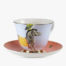 Yvonne Ellen Cup-and-saucer-Carnival-Zebra