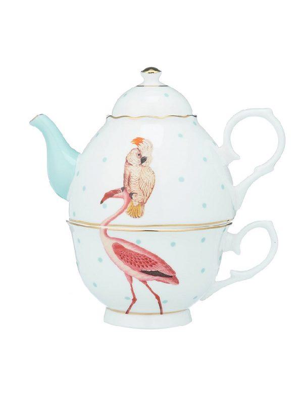 Yvonne Ellen Tea for one Flamingo