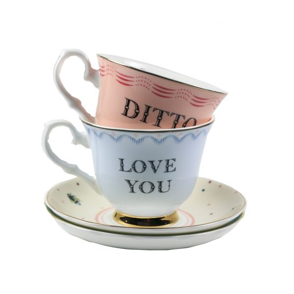 Cup&saucer set Love You/Dito